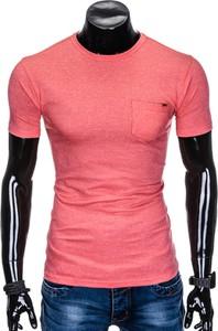 T-shirt Edoti w stylu casual