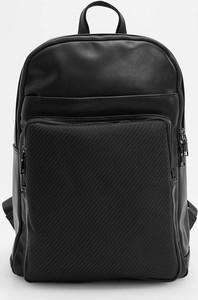 Czarny plecak Reserved ze skóry