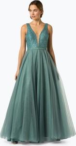 Sukienka Luxuar Fashion z dekoltem w kształcie litery v maxi