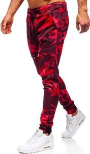 Czerwone spodnie Denley z bawełny