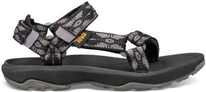 Czarne sandały Teva w stylu casual z płaską podeszwą
