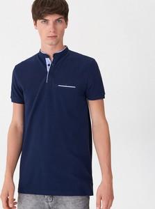 Niebieska koszulka polo House