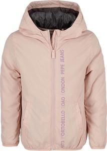 Różowa kurtka dziecięca Pepe Jeans