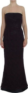 Fioletowa sukienka Dolce & Gabbana gorsetowa