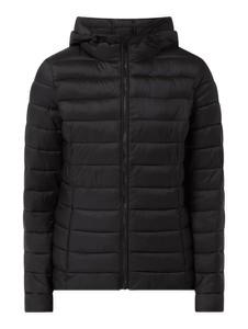Czarna kurtka Montego krótka w stylu casual