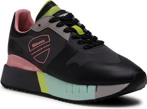 Buty sportowe Blauer Usa na platformie sznurowane