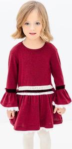 Czerwona sukienka dziewczęca Anima By Justyna Steczkowska z bawełny
