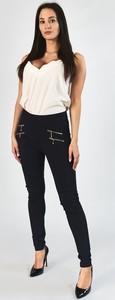 Granatowe spodnie Royalfashion.pl w stylu casual