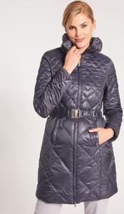 Granatowa kurtka QUIOSQUE w stylu casual