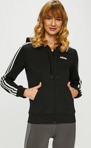 6794872350fa1e Czarna bluza Adidas Performance krótka w sportowym stylu z dzianiny