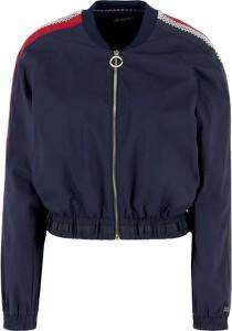 Niebieska kurtka Tommy Hilfiger w stylu casual krótka