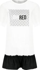 Sukienka Red Valentino z okrągłym dekoltem z krótkim rękawem trapezowa