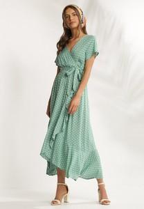 Sukienka Renee z dekoltem w kształcie litery v z krótkim rękawem kopertowa