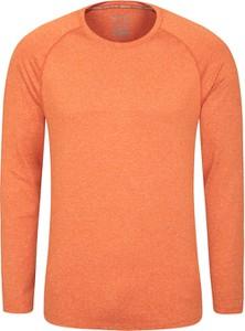 Pomarańczowy t-shirt Mountain Warehouse z długim rękawem w stylu casual