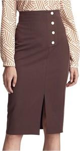 Brązowa spódnica Colett midi