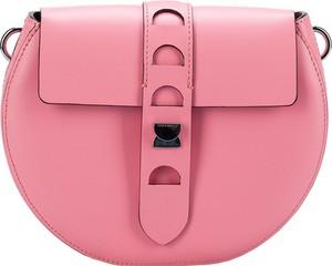 Różowa torebka Coccinelle w stylu casual ze skóry