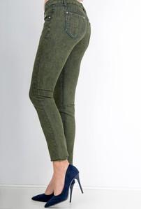 Zielone spodnie Zoio w street stylu z bawełny