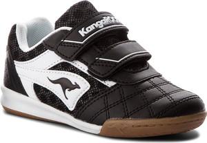 Czarne buty sportowe dziecięce Kangaroos na rzepy