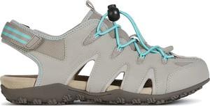 Sandały Geox w sportowym stylu na rzepy z płaską podeszwą