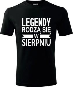 Czarny t-shirt TopKoszulki.pl z krótkim rękawem z bawełny w młodzieżowym stylu