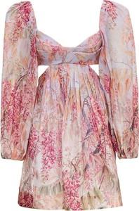 Sukienka Zimmermann gorsetowa z dekoltem w kształcie litery v mini