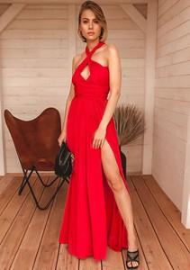 Czerwona sukienka Latika bez rękawów