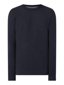 Granatowy sweter Jack & Jones w stylu casual z bawełny