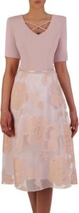 Sukienka POLSKA midi z krótkim rękawem