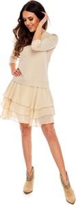 Sukienka Moda Dla Ciebie z długim rękawem z bawełny