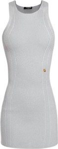 Sukienka Balmain mini z okrągłym dekoltem bez rękawów