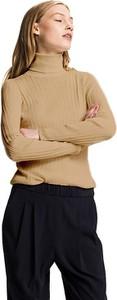 Brązowy sweter Tommy Hilfiger w stylu casual