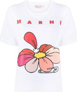 T-shirt Marni z krótkim rękawem w młodzieżowym stylu z bawełny