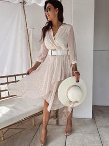 Sukienka Versada midi kopertowa w stylu casual
