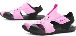 Różowe buty dziecięce letnie Nike na rzepy