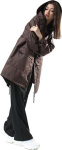 Brązowa kurtka REST FACTORY w stylu casual z tkaniny