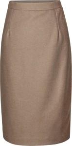Brązowa spódnica Fokus midi w stylu klasycznym
