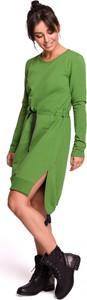 Sukienka BeWear prosta z długim rękawem mini