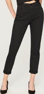 Czarne jeansy Reserved w street stylu z jeansu