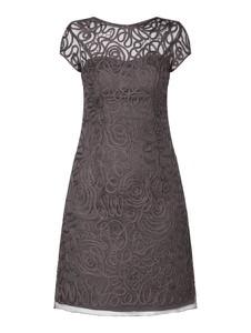 Brązowa sukienka Luxuar mini z okrągłym dekoltem w stylu casual
