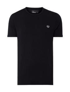 Czarny t-shirt Fred Perry z krótkim rękawem z bawełny