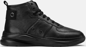 Czarne buty sportowe Kazar sznurowane