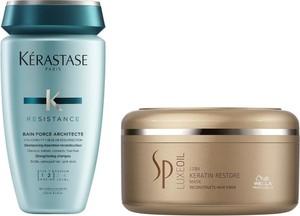 Kerastase Force Architecte Bain and SP Luxe Oil Keratin Restore   Zestaw do regeneracji włosów: kąpiel 250ml + maska 150ml - Wysyłka w 24H!