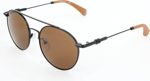 Brązowe okulary damskie Calvin Klein