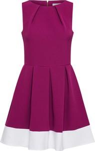 Różowa sukienka Closet bez rękawów rozkloszowana