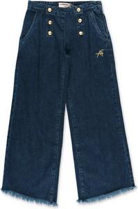 Granatowe spodnie dziecięce Alberta Ferretti