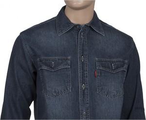 Koszula Stanley z jeansu z klasycznym kołnierzykiem