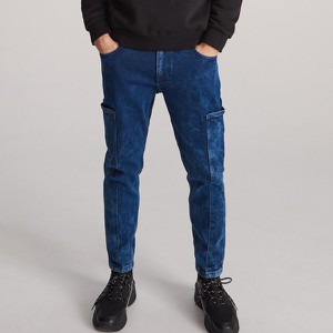 Granatowe jeansy Reserved z jeansu