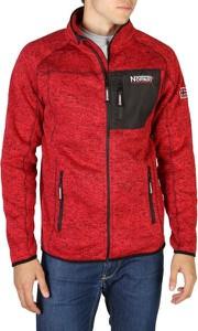 Czerwona bluza Geographical Norway w sportowym stylu z bawełny