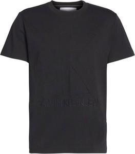 Czarny t-shirt Calvin Klein w stylu casual