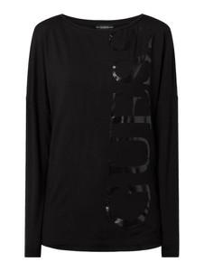 Czarna bluzka Guess w stylu casual z długim rękawem